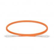 Cable/latiguillo/jumper de fibra óptica OM1 multimodo SC UPC a SC UPC símplex PVC (OFNR) 2.0mm longitud personalizada