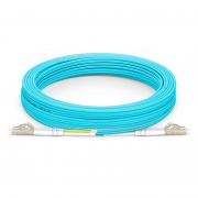 20m(66ft) LC/UPC-LC/UPC デュプレックス マルチモード 光パッチケーブル(2.0mm PVC/OFNR OM4)