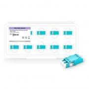 LC/UPC to LC/UPC 10G OM3 Multimode Duplex SC Footprint Plastic Fiber Optic Adapter/Coupler without Flange, Aqua (10pcs/pack)
