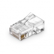Cat5e RJ45 Unshielded (UTP) Modular Plug for Solid Cables (50/Pack)