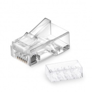 Cat6 RJ45 Unshielded (UTP) Modular Plugs with Loading Bar for Solid Cable (50/Pack)