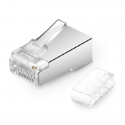 Cat6 RJ45 Shielded (STP) Modular Plug with Loading Bar for Stranded Cables (50/Pack)