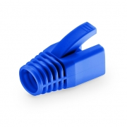 Cat6a RJ45 Shielded (STP) Snagless Boot Cover for Solid Cables - Blue, 50/Pack