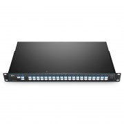 Customized 40 Channels C21-C60, Flat-top Dual Fiber DWDM Mux Demux, LC/UPC, FMU 1U Rack Mount