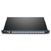 カスタム40チャンネル C21-C60 デュアルファイバ DWDM波長合分波モジュール(Mux/Demux、フラットトップ、LC/UPC、FMU 1Uラックマウント)
