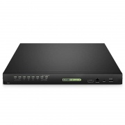 8-Port × 2 Users Cat5e/6/7 1U Rack-Mount USB KVM Switch with IP Remote Access, 8 Interface Modules Included