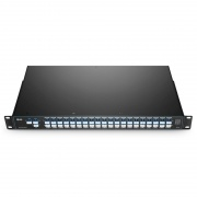 Flat-top 40 Channels C21-C60, with 1310nm Port and Monitor Port, LC/UPC, Dual Fiber DWDM Mux Demux, FMU 1U Rack Mount