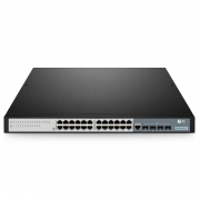 S3700-24T4F, 24-Port Gigabit Ethernet L2+ Smart Managed Pro Switch, 24 x Gigabit RJ45, with 4 x 1Gb SFP Uplinks, Fanless