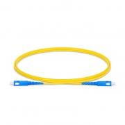 0.5m (1.6ft) SC UPC to SC UPC Simplex OS2 Single Mode PVC (OFNR) 2.0mm Fiber Optic Patch Cable