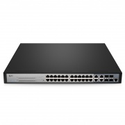 S3400-24T4FP, 24-Port Gigabit Ethernet Smart Managed Pro PoE+ Switch, 24 x PoE+ Ports @370W, with 4 x 1Gb Combo Uplinks