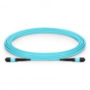 5m (16ft) MTP Male 12 Fibers Type B LSZH OM4 (OM3) 50/125 Multimode Elite Trunk Cable, Aqua