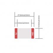 Design Label for 40G QSFP+ SR4/LR4/CSR4/LX4/PLR4/PIR4/IR4/ER4 Transceiver, 1 Roll