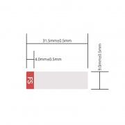 Etiqueta personalizada para transceptor de vídeo digital SFP 3G, 1 rollo