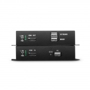 4K HDMI KVM USB2.0 Extender Set with Audio and EDID via Single LC Fiber for 10km