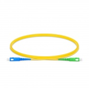 1m (3ft) SC UPC to SC APC Simplex OS2 Single Mode PVC (OFNR) 2.0mm Fiber Optic Patch Cable