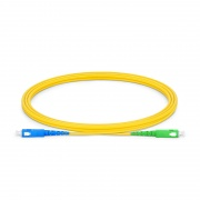 2m (7ft) SC UPC to SC APC Simplex OS2 Single Mode PVC (OFNR) 2.0mm Fiber Optic Patch Cable
