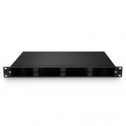 FHD High Density 1U Rack Mount Enclosure Unloaded, Tool-less Removable Top Cover, Holds up to 4x FHD Cassettes or Panels, 144 Fibers (LC)