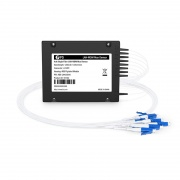 4チャネル 1295.56-1309.14nm シングルファイバ LAN-WDM波長合分波モジュール(Mux/Demux、サイドA、ABSピグテールモジュール、LC/UPC)