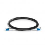 Cable de conexión de fibra exteriores para estación base 1m (3ft) LC UPC a LC UPC Duplex OS2 monomodo 7.0mm LSZH FTTA