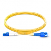1m (3ft) LC UPC to SC UPC Duplex 2.0mm PVC(OFNR) OS2 Singlemode Bend Insensitive Fiber Patch Cable