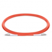 2m (7ft) LC UPC to LC UPC Simplex 2.0mm PVC (OFNR) OM1 Multimode  Fiber Optic Patch Cable