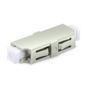 LC/UPC to LC/UPC Simplex OM1/OM2 Plastic Fiber Optic Adapter/Mating Sleeve without Flange