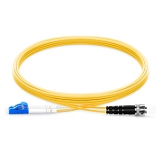 2m (7ft) LC UPC to ST UPC Duplex 2.0mm PVC (OFNR) 9/125 Single Mode Fiber Patch Cable