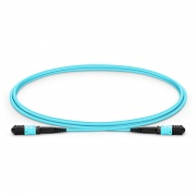 1m (3ft) MPO Female 12 Fibers Type B LSZH OM3 50/125 Multimode Elite Trunk Cable, Aqua
