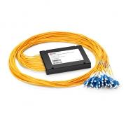 16チャネル C21-C36 デュアルファイバ DWDM 波長合分波(Mux/Demux)モジュール(拡張ポート付き、スプライス ピッグテール ABSモジュール、LC/UPC)