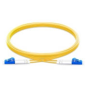 1m (3ft) Grade B LC UPC to LC UPC Duplex PVC (OFNR) OS2 Single Mode BIF Fiber Patch Cable, Typical 0.12dB IL