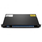 Mux Demux DWDM Double Fibre à 16 Canaux C43-C58 avec Port d'Expansion, FMU Montage en Rack 1U, LC/UPC