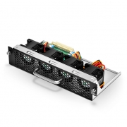 Hot-swappable Fan Module, Front-to-Back Airflow Through the S5800-48F4S Switch Chassis