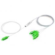 1x4 PLC Fiber Splitter, Mini Module, 900μm, SC/APC, Singlemode