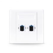 2-Port SC Simplex UPC OS2 Single Mode Fiber Optic Wall Plate Outlet, Straight