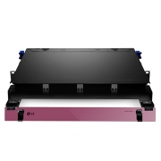 1U Rack Mount HD Fiber Enclosure Unloaded, Holds up to 4x Fiber Adapter Panels or 4x MPO/MTP Cassettes