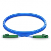1m (3ft) LC APC to LC APC Duplex OS2 Single Mode Armored PVC (OFNR) 3.0mm Fiber Optic Patch Cable