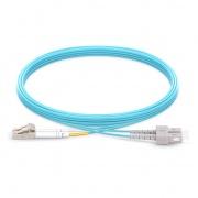 5.33m (17ft) LC UPC to LC UPC Duplex 2.0mm PVC(OFNR) OM3 Multimode Fiber Optic Patch Cable