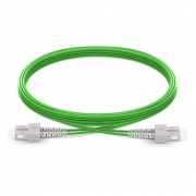 3m (10ft) SC UPC to SC UPC Duplex 2.0mm LSZH OM5 Multimode Wideband Fiber Optic Patch Cable