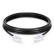 3.3ft (1m) Cat5e sin carcasa sin blindaje (UTP) PVC Cable de conexión de red de Ethernet, negro