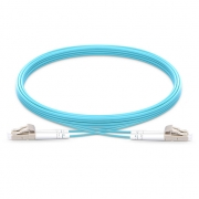 1m (3ft) LC UPC to LC UPC Duplex OM4 Multimode Armored PVC (OFNR) 3.0mm Fiber Optic Patch Cable