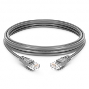 3.3ft (1m) Cat5e Snagless Unshielded (UTP) PVC Ethernet Network Patch Cable, Gray