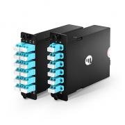 MTP MPO to LC/SC OM4 High Density Fiber Optic Plug-N-Play Cassette