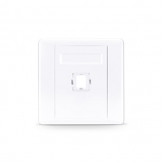 1-Port Fiber Optic Wall Plate Outlet