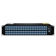 96 Channels CH15-CH62, LC/UPC, Dual Fiber DWDM Mux Demux, AAWG, FMU 2U Rack Mount