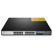 Switch/Commutateur 24-Ports 10/100/1000BASE-T Gigabit Empilable Géré avec 4 10GE SFP+ Uplinks Sans Ventilateur S3900-24T4S