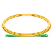 2m (7ft) SC APC to SC APC Simplex 2.0mm PVC (OFNR) 9/125 Single Mode Fiber Patch Cable