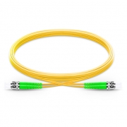 1m (3ft) ST APC to ST APC Duplex 2.0mm PVC(OFNR) 9/125 Single Mode Fiber Patch Cable