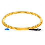 2m (7ft) LC UPC to ST UPC Simplex 2.0mm PVC (OFNR) 9/125 Single Mode Fiber Patch Cable