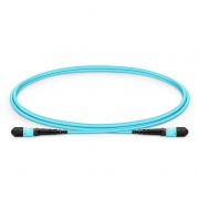 1m (3ft) MTP Female 12 Fibers Type A Plenum (OFNP) OM3 50/125 Multimode Elite Trunk Cable, Aqua