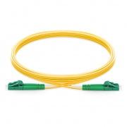 Biegeunempfindliches LWL-Patchkabel, 1m (3ft) LC APC auf LC APC Duplex Stecker, OS2 Singlemode PVC(OFNR) 2,0mm